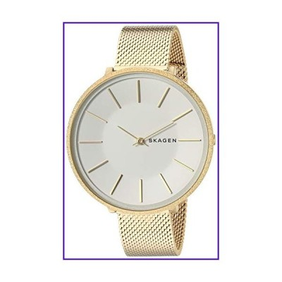 Skagen Women's Karolina Analog-Quartz Stainless-Steel-Plated Strap, Gold, 14 Casual Watch (Model: SKW2722) 並行輸入品