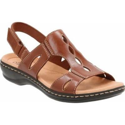 クラークス レディース サンダル シューズ Leisa Lakelyn Cutout Slingback Tan Leather
