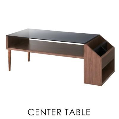 ローテーブル おしゃれ ガラステーブル センターテーブル 木製 幅105cm 収納 棚付き モダン 安い 人気 新生活