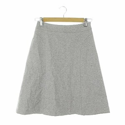 【中古】ナラカミーチェ NARA CAMICIE スカート 台形 ひざ丈 0 グレー /AAM29 レディース