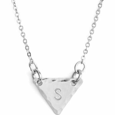 ナシェル NASHELLE レディース ネックレス ジュエリー・アクセサリー Sterling Silver Initial Mini Triangle Necklace Sterling Silver