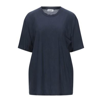 JIL SANDER+ T シャツ ダークブルー S コットン 100% T シャツ