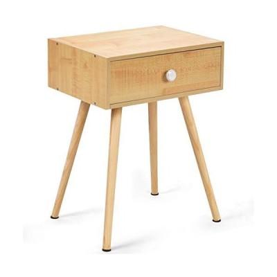 BestBuy サイドチェスト サイドテーブル テーブル チェスト ベッドサイド ソファサイド リビング 引出し1個付き ナチュラル