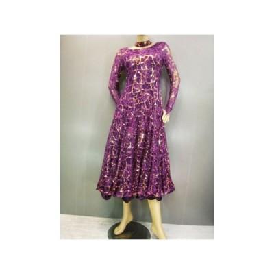 社交ダンス ダンス カラオケ 演奏会 コーラス ドレス レディース ダンスウェア 衣装 ラテンドレス モダンドレス  紫