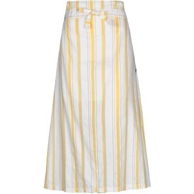 アティピコ AT.P.CO 7分丈スカート ホワイト 42 コットン 55% / リネン 35% / ナイロン 10% / レーヨン 7分丈スカート