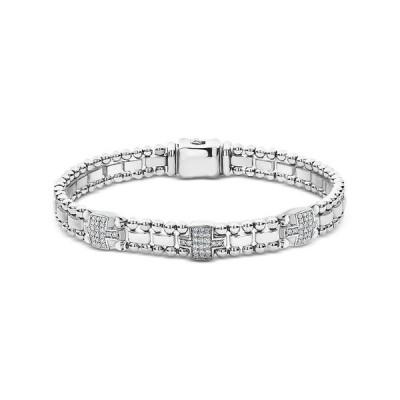 ラゴス レディース ブレスレット・バングル・アンクレット アクセサリー Sterling Silver Caviar Spark Diamond Link Bracelet
