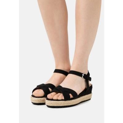 レディース 靴 シューズ WIDE FIT STRASBOURG - Platform sandals - black