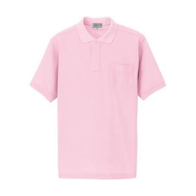 アイトス(AITOZ) 半袖ポロシャツ(男女兼用) 060/ピンク AZ-7615 ワークウェア 作業着