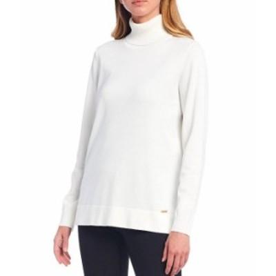 カルバンクライン レディース Tシャツ トップス Fine Gauge Knit Long Sleeve Turtleneck Sweater Birch