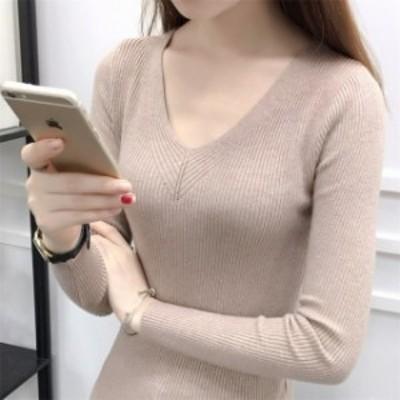 上品 トップス 無地 レディース 通勤 ニット 35755 韓国 セーター 通学 女子旅 レディース インスタ映え ファッション
