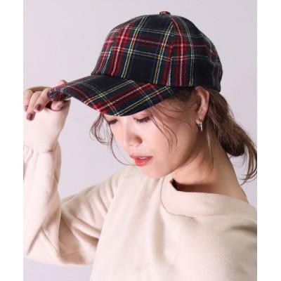 BAYBLO / 【ユニセックス】ネルチェック ベースボール キャップ(CR) WOMEN 帽子 > キャップ