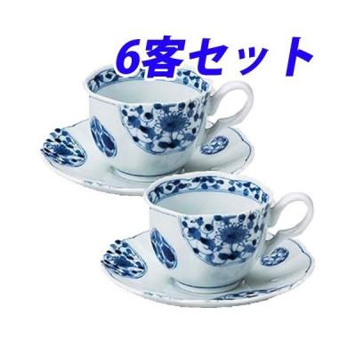 花伊万里コーヒー碗と受皿 6客セット