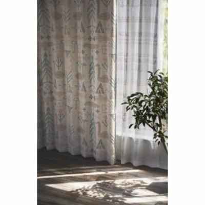 サーナヤオッリ 既製遮光カーテン バースオブザワールド 幅100×丈135cm ミックス J1011 1本