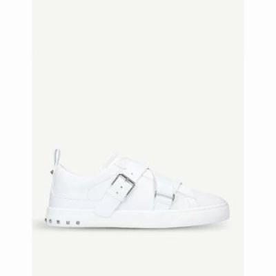 ヴァレンティノ スニーカー v-punk leather trainers White