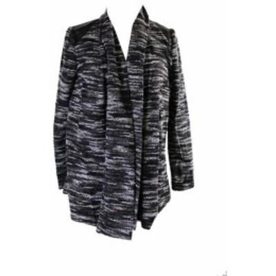 ECI ECI ファッション トップス Eci York Black Marled Mixed-Media Boucle Sweater Jacket M