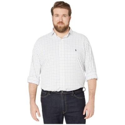 ラルフ ローレン Polo Ralph Lauren Big & Tall メンズ シャツ トップス Long Sleeve Long Sleeve Performance Woven White/Blue