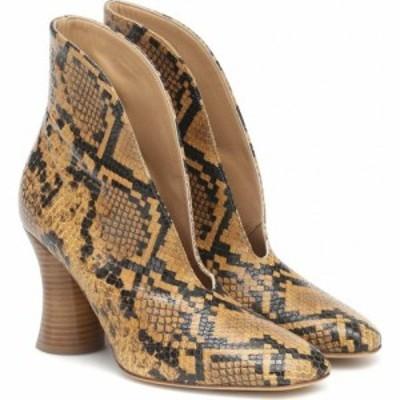 ペーター ペトロフ Petar Petrov レディース ブーツ シューズ・靴 Sato Snake-Effect Leather Pumps Python Brown