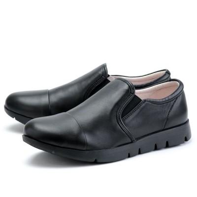 フィットジョイ FITJOY FJ-023 オールブラック 黒 スニーカー レディース ウォーキングシューズ 軽量 レザーシューズ シープスキン 旅行用 靴 おしゃれ