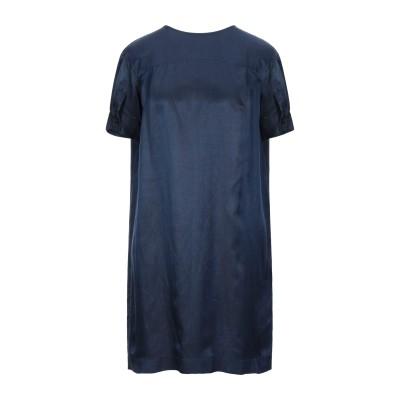 GOLD CASE ミニワンピース&ドレス ダークブルー 40 レーヨン 72% / リネン 28% ミニワンピース&ドレス