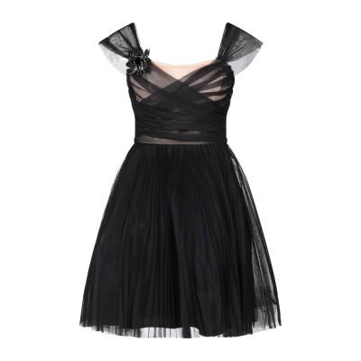 ピンコ PINKO ミニワンピース&ドレス ブラック 42 ポリエステル 100% / アセテート / ナイロン ミニワンピース&ドレス