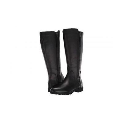 Naturalizer ナチュラライザー レディース 女性用 シューズ 靴 ブーツ ロングブーツ Gael Wide Calf - Black Leather