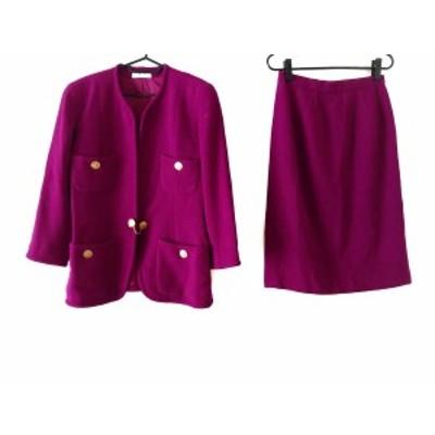マダムジョコンダ MADAM JOCONDE スカートスーツ サイズ9 M レディース 美品 パープル【中古】20200721