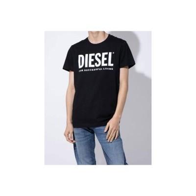 ディーゼル DIESEL ロゴプリントカットソー (BLACK)T-DIEGO-LOGO T-SHIRT