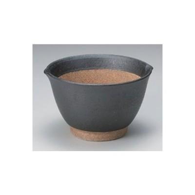すり鉢 黒土麦とろ鉢(中) 13.2 x 12.2 x 8.2cm 土物 料亭 カフェ 和食器 飲食店 業務用