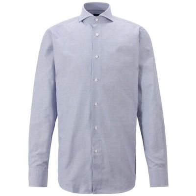 ヒューゴボス シャツ トップス メンズ BOSS Men's T-Sam Regular-Fit Shirt Medium Blue
