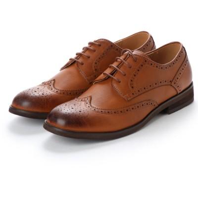 ミッドランドフットウェアーズ Midland Foot Wears midland footwears 0004 ラウンドトゥ外羽根フルグローグ (タン)