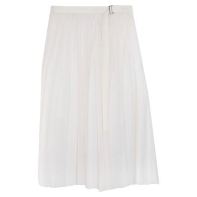 サカイ SACAI 7分丈スカート ホワイト 1 コットン 50% / ポリエステル 50% / ウール 7分丈スカート