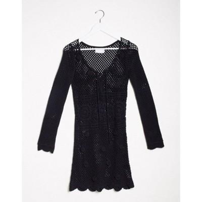 エイソス レディース ワンピース トップス ASOS DESIGN hand crochet knit mini dress