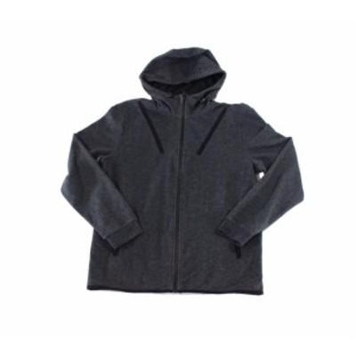 ファッション トップス Ideology NEW Charcoal Gray Mens Size Medium M Full Zip Hooded Sweater