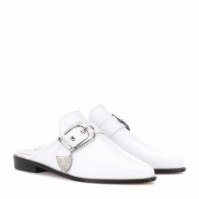 スチュアート ワイツマン Stuart Weitzman レディース スリッパ シューズ・靴 Ryan leather slippers White Calf