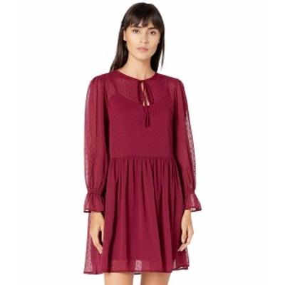 ワイフ レディース ワンピース トップス Swiss Dot Blouse Dress Burgundy