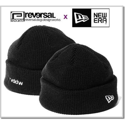 リバーサル reversal × NEWERA rvddw KNIT CAP rvner020-BLACK キャップ 帽子 ニットキャップ ビーニー