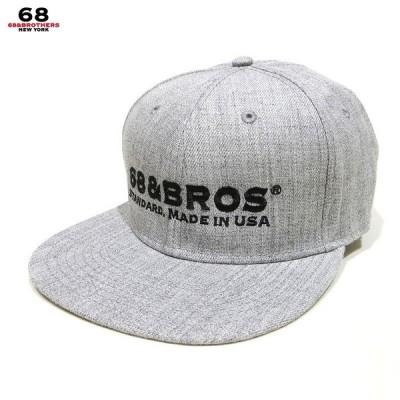 """68&BROTHERS 68&ブラザーズ 帽子 キャップ Snap Back Cap """"STANDARD"""" スナップバックキャップ フラットキャップ"""
