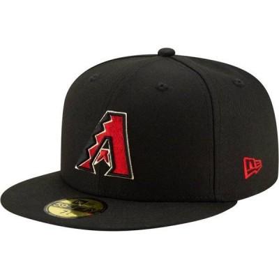 ニューエラ メンズ 帽子 アクセサリー New Era Men's Arizona Diamondbacks 59Fifty Black Fitted Hat