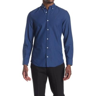 ウォーリンアンドブロス メンズ シャツ トップス Oxford Slim Fit Shirt NAVY - BLUE OXFORD