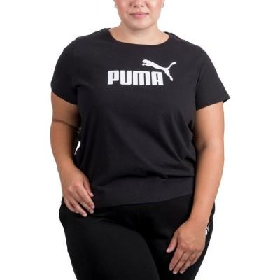 プーマ Puma レディース Tシャツ 大きいサイズ トップス Plus Size Logo Crewneck T-Shirt Cotton Black