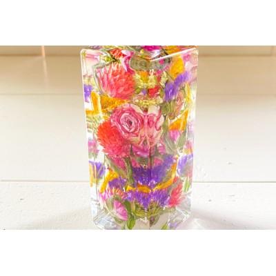 加美町の豊かな土壌で育ったお花で作ったドライハーバリウム【完成品】<878HERVE(ハナヤエルベ)>【宮城県加美町】