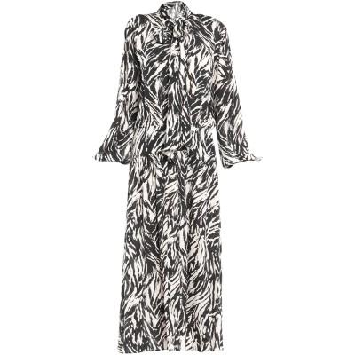 ヌメロ ヴェントゥーノ N°21 ロングワンピース&ドレス ブラック 46 レーヨン 100% ロングワンピース&ドレス