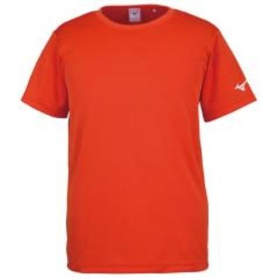 ミズノ BS Tシャツ ソデRBロゴ 32JA8156 フレイムオレンジ メンズ 2018SS ゆうパケット(メール便)対応
