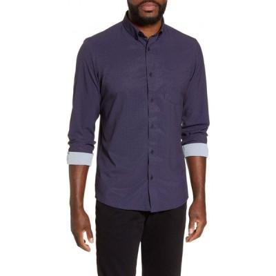 ノードストローム NORDSTROM MEN'S SHOP メンズ シャツ トップス Nordstrom Regular Fit Button-Down Shirt Navy Burgundy Neat Geo