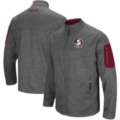 Colosseum コロセウム スポーツ用品  Colosseum Florida State Seminoles Heathered Charcoal Big & Tall Anchor Full-Zip Ja