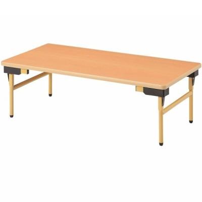 教育施設 テーブル 幅900×奥行600×高さ330mm 折りたたみ EW-0960Z ソフトエッジ 折りたたみテーブル 教育施設 NISHIKI ニシキ工業
