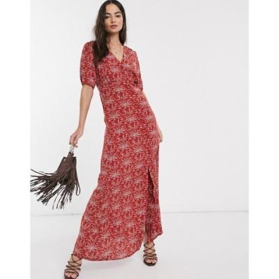 ワイエーエス レディース ワンピース トップス Y.A.S Jellica floral print maxi dress