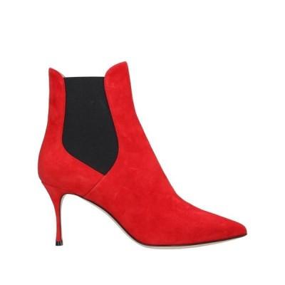 SERGIO ROSSI ショートブーツ  レディースファッション  レディースシューズ  ブーツ  その他ブーツ レッド