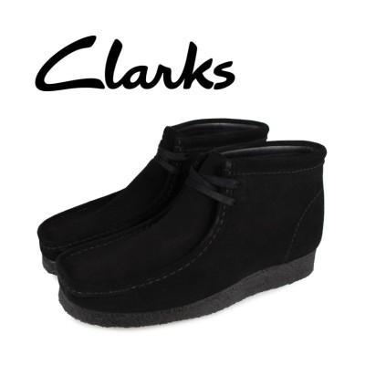【スニークオンラインショップ】 クラークス clarks ワラビーブーツ メンズ WALLABEE BOOT ブラック 黒 26155517 メンズ その他 UK9.0-27.0 SNEAK ONLINE SHOP