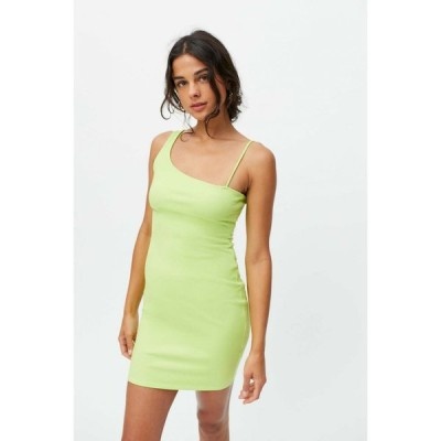 アーバンアウトフィッターズ Urban Outfitters レディース ワンピース ワンピース・ドレス UO Erin One Shoulder Mini Dress Lime Green